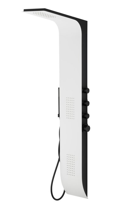 Shower panel Corsan Duo A777 white/black / thermostatic