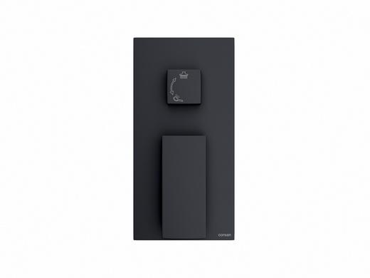 Unterputz Badarmatur Corsan CMM01BL schwarz