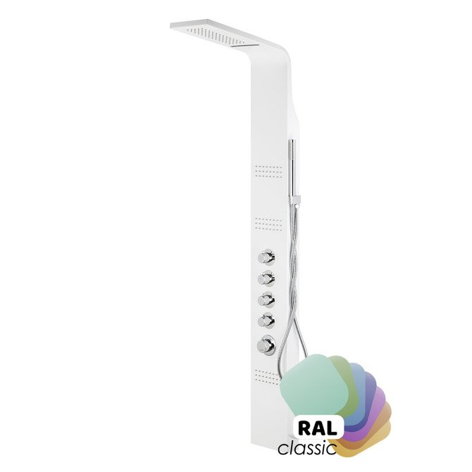 Duschpaneel Corsan Led Kaskada A013A individuell RAL / Thermostat