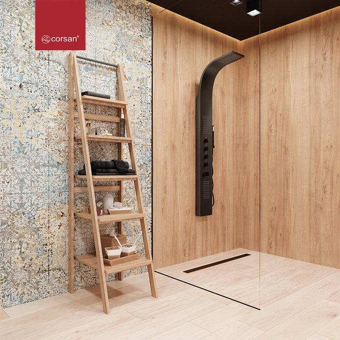 Panel prysznicowy Corsan Samsara S003 czarny