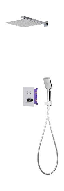 Prysznicowy zestaw podtynkowy Corsan 647014 chrom z termostatem